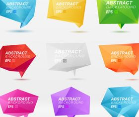 Color Origami abstract background 1 vector