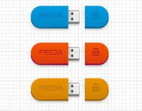 Color USB Disk vector material