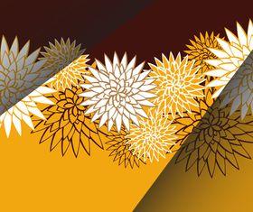 Folding Floral background vector