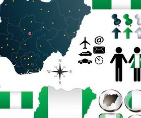 Nigerielements vector graphic