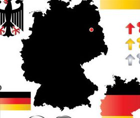 Germany elements Illustration vector