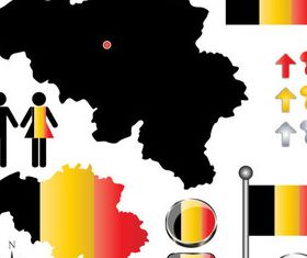 Belgium elements vector graphic