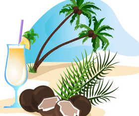 Summer beach with holiday 5 vector