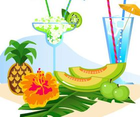 Summer beach with holiday 7 vector