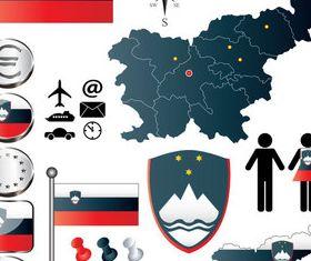 Slovenielements vectors graphics
