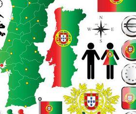 Portugal elements set vector