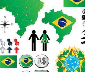 Brazil elements vector