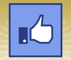Facebook Like Icon vector graphics