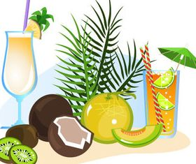 Summer beach with holiday 3 vector