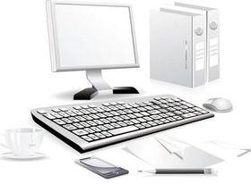 Computer parts 2 set vector