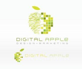 Digital Apple Logo vector