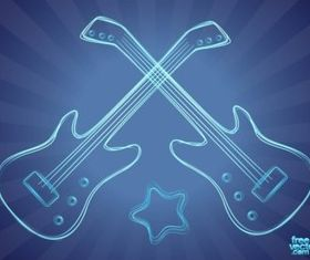 Bass Guitar vectors graphic