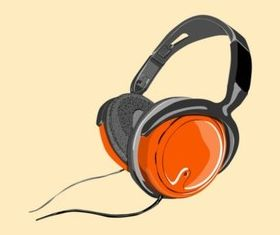 Shiny Headphones vector