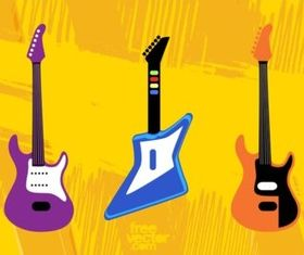 Toy Guitars vectors