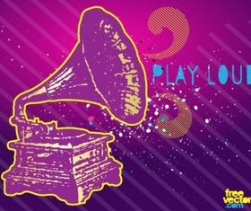 Play Loud vectors graphics