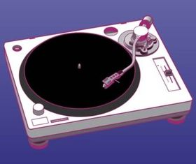Turntable Graphics vector