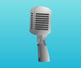Metal Mic shiny vector