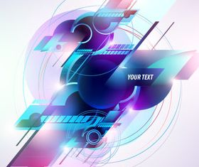 Shiny Concept background vector
