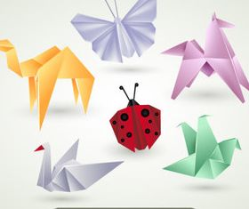 Origami Animals 1 creative vector