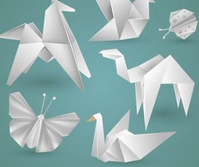 Origami Animals 2 creative vectors