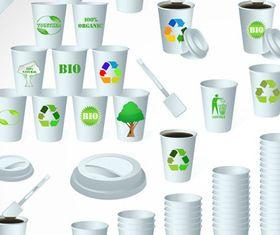 Paper Cups 1 vector
