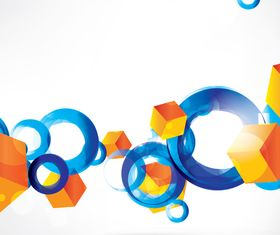 Shiny Blue Circle background 1 vector