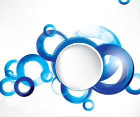 Shiny Blue Circle background 2 vector