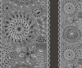 Lace with Black background vector