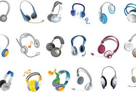 Different Headsets vectors graphic