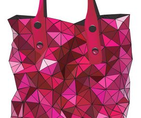 Geometric shapes handbag vector