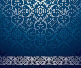 Ornate Floral background Vintage style 9 vector