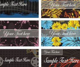 Floral Abstract Cards templete 1 vector