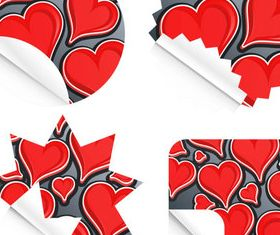 Red Heart Sticker vector