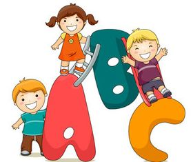 Cute Child and Alphabet 4 vector