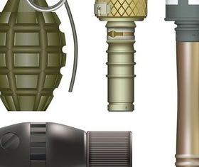Military grenade vector design