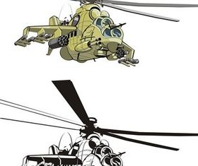 Combat helicopter vector