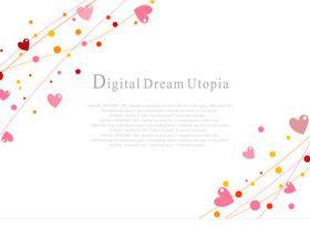 Romantic elements backgrounds 1 vector