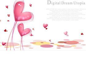 Romantic elements backgrounds 3 vector
