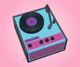 Vinyl Record Player vectors graphic