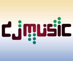 DJ Type Art design vector