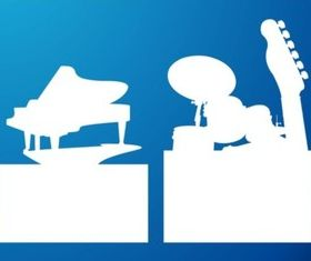 Musical Silhouettes vectors graphic