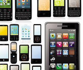 fashion business mobile phone design vectors
