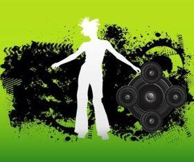 Grunge Dancer vector design