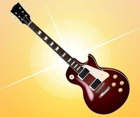 Electric Guitar Image vector material