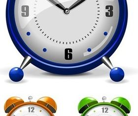 Colorful alarm design vector