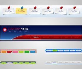 Website Menus vector design