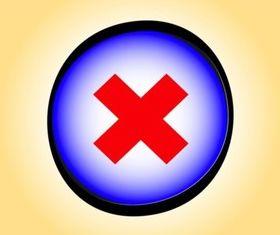 Delete Button vector graphic