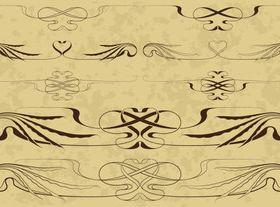 Draw Calligraphy border 1 vector
