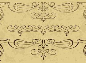 Draw Calligraphy border 2 vector