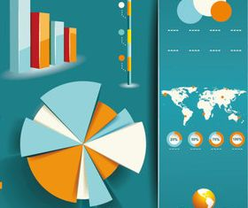 Infographics template 2 vector set